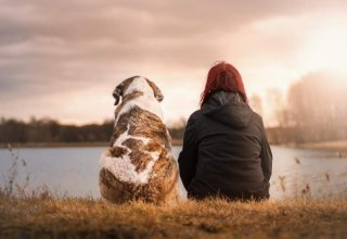 nature-women-dog